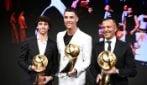 Cristiano Ronaldo, le immagini della premiazione ai Globe Soccer Awards