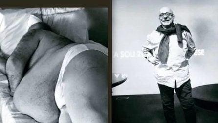 Le foto di Platinette prima e dopo la perdita di peso
