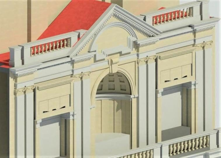 facciata via Arcoleo rendering
