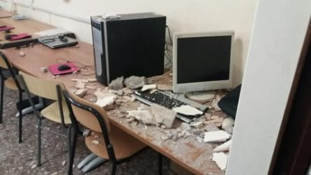 Furto alla scuola media dell'Appio Latino, parete smurata e computer rubati