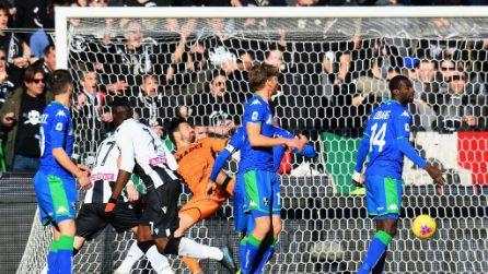Serie A, le immagini di Udinese-Sassuolo