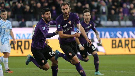 German Pezzella segna contro la Spal e dedica il gol a Davide Astori