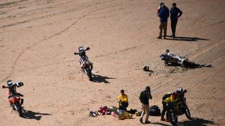 Morto Paulo Goncalves, le foto dei soccorsi alla Dakar