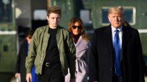 Il look low-cost di Barron Trump