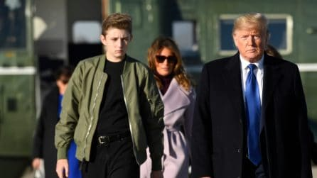 Il look low-cost di Barron Trump