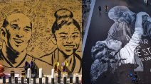Murales e altri ricordi in memoria di Kobe Bryant e la figlia Gianna in tutto il mondo