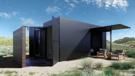 Un container diventa una casa off grid che resiste al fuoco