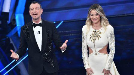 Il look di Diletta Leotta a Sanremo 2020