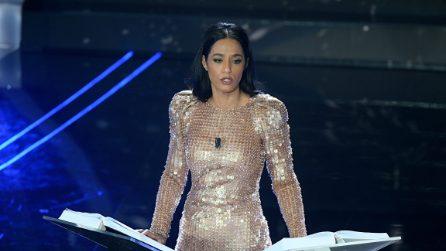 I look di Rula Jebreal nella prima serata di Sanremo 2020