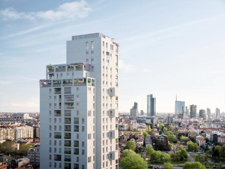 Torre Milano conta 105* appartamenti, disposti su 23 piani. L'edificio sorge tra Isola e Maggiolina, a un passo da Porta Nuova.