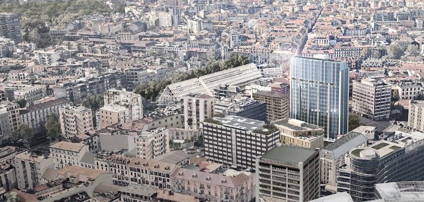 Corso Como Place si colloca nell'epicentro dell'evoluzione urbana di Porta Nuova, fra Piazza Gae Aulenti, Corso Como e Fondazione Feltrinelli & Microsoft House, centro importante del lifestyle milanese.