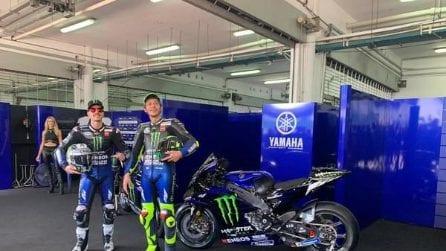MotoGP, le foto di Valentino Rossi e Maverick Vinales alla presentazione Yamaha