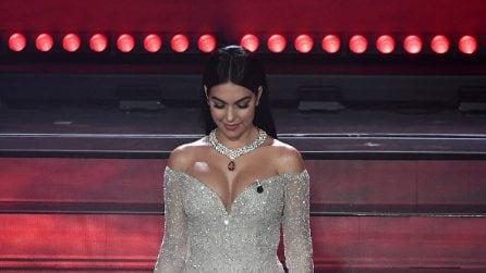 I look di Georgina Rodriguez a Sanremo 2020
