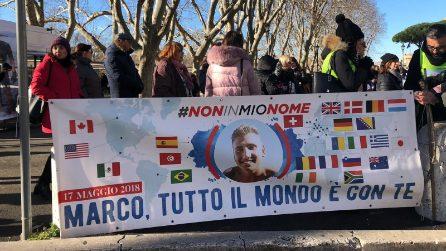 Processo Vannini, decine di persone in strada per la Cassazione sostengono Marina e Valerio