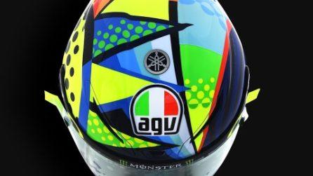 Valentino Rossi, nuovo casco per i test MotoGP 2020