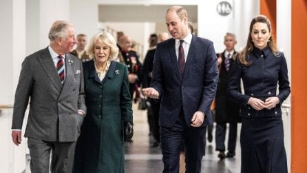 Kate Middleton con la giacca militare