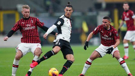 Coppa Italia, le immagini di Milan-Juventus