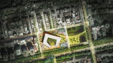 Mario Cucinella progetta un'oasi verde nel cuore di Tirana