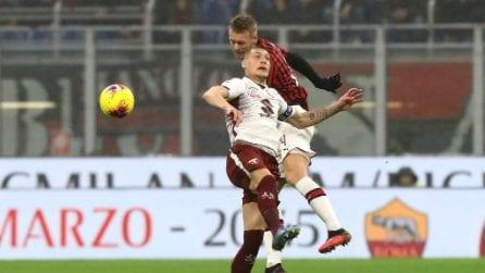 Milan-Torino, le immagini del match di Serie A