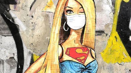 Milano, incursione della coppia di street artist Lediesis sui Navigli: sui muri Alda Merini e Barbie