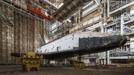 Nella base di lancio sovietica abbandonata