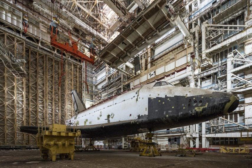 Il veicolo spaziale Orbiter OK-4M visto dal livello 1