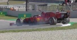 Test F1 a Barcellona, le foto di Vettel nel secondo giorno di prove
