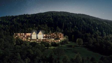 La spa da sogno immersa nei boschi delle Dolomiti