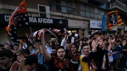 Valencia, centinaia di tifosi fuori dal Mestalla: ignorate disposizioni Coronavirus