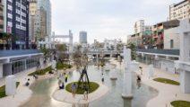 Le rovine del centro commerciale diventano uno spettacolare parco urbano a Taiwan