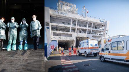 Genova, entra in funzione la nave ospedale: arrivano i primi pazienti
