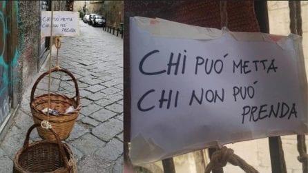 """Napoli, il panaro solidale per aiutare chi ha bisogno: """"Chi può metta, chi non può prenda"""""""