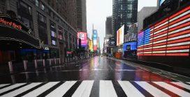 Coronavirus, le strade di New York sono deserte, ma non è un film