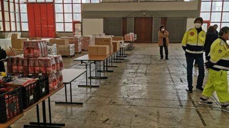 Aperto il deposito dei generi alimentari per il Coronavirus alla Mostra d'Oltremare