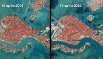 Venezia, aprile 2019 vs aprile 2020: colori diversi e meno inquinamento