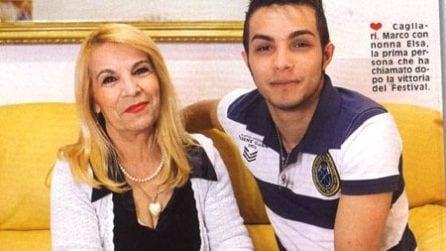 Le foto della nonna di Marco Carta