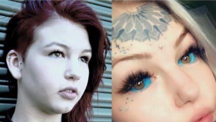 """Oltre 16 mila euro per trasformarsi nella """"ragazza drago"""": tatuaggi e piercing le ricoprono il corpo"""