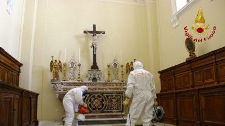Sanificato il Santuario di Montevergine a Mercogliano: si va verso la riapertura ai fedeli