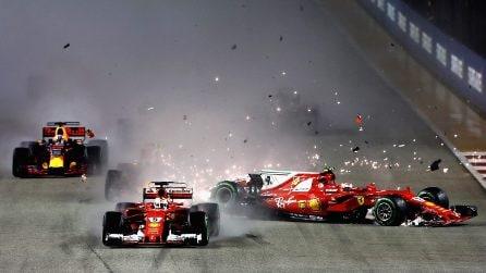 Sebastian Vettel tante vittorie, ma anche tanti errori con la Ferrari