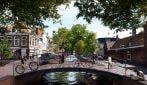 Canali d'acqua e ponti pedonali al posto di strade e piazze