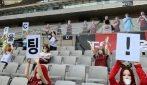 Il Seoul FC mette delle bambole gonfiabili sugli spalti