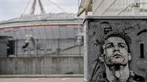 Juventus, spunta il murale con il volto di Cristiano Ronaldo