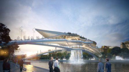 Il primo ponte di Parigi con cascata sulla Senna