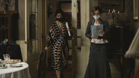 Le foto sul set di Una vita dopo la quarantena: mascherine e distanza sociale