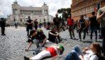Tensione in centro a Roma per la manifestazione 'Marcia su Roma'