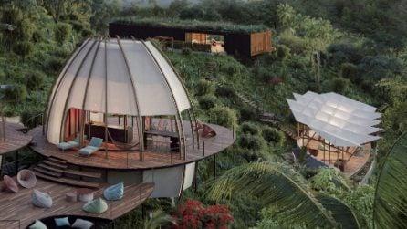 Il soggiorno di lusso in baccelli immersi nella giungla del Costa Rica