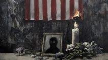 Il murale di Banksy in ricordo di George Floyd