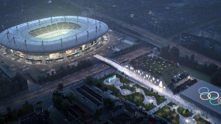 Come potrebbe essere il centro acquatico per i Giochi olimpici di Parigi 2024