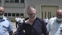 Mafia Capitale: Massimo Carminati all'uscita dal carcere di Oristano