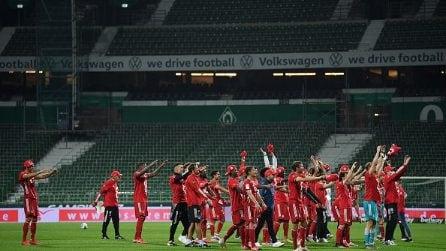 La festa surreale del Bayern Monaco: vince il campionato nello stadio vuoto e senza tifosi